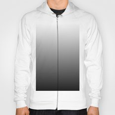 Black to White Gradient Hoody