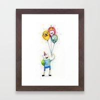 Finn With Birthday Ballo… Framed Art Print