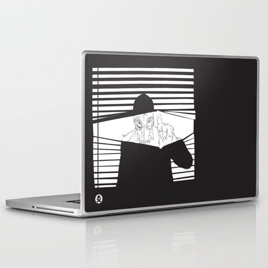 Man in the Mask -Watching your Walls Laptop & iPad Skin