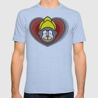 Indian Monkey God Icon Mens Fitted Tee Athletic Blue SMALL