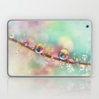 Rainbow Smoke Drops Laptop & iPad Skin