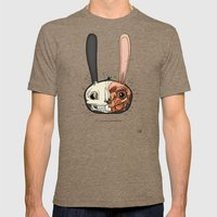 Visible Floating BunnyHead Mens Fitted Tee Tri-Coffee SMALL