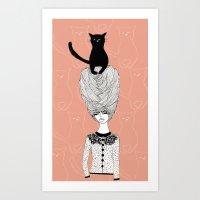 The Cat Lady Art Print