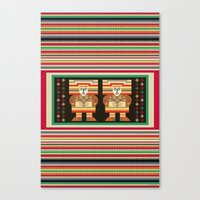 Nick's Blanket 1968 Version 2 (With Figures) Canvas Print