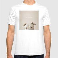 Pit bull love  Mens Fitted Tee White SMALL