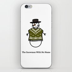 The Snowman With No Name iPhone & iPod Skin