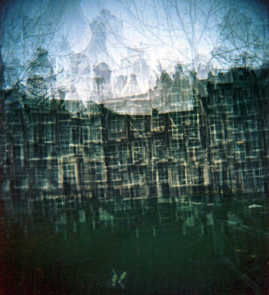 Amsterdam Multiple Exposure Canvas Print