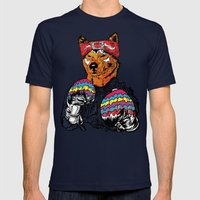 Shiba - The Hustler  Mens Fitted Tee Navy SMALL