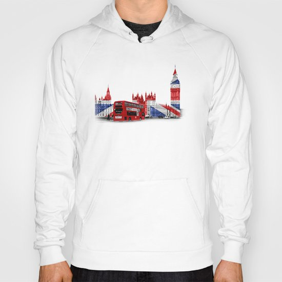 Red London Bus and Big Ben Hoody