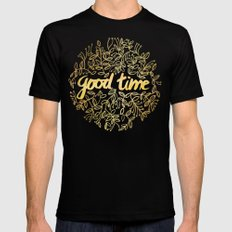 Good Time SMALL Mens Fitted Tee Black