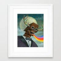 Observation Then Communication Framed Art Print