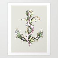 Anchor (color) Art Print