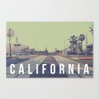 California On the Tracks Canvas Print