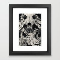 Little Pig, Let Me In Framed Art Print
