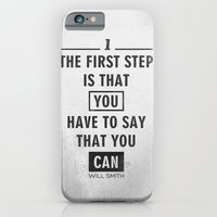 Will Smith quote - Motivational poster iPhone 6 Slim Case