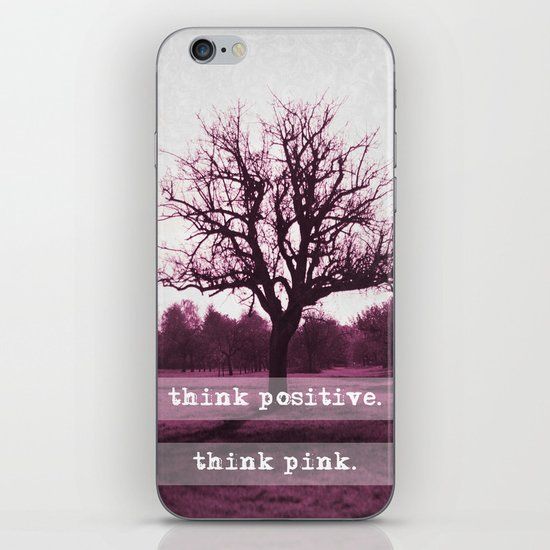 think positive. iPhone & iPod Skin