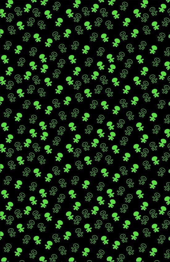 Aliens-Green Art Print