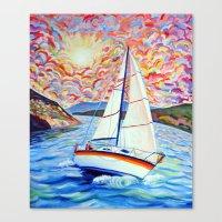 Sailing Okanagan Canvas Print