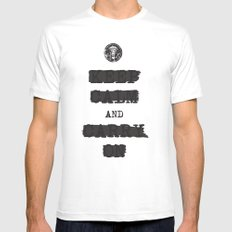 redacted. Mens Fitted Tee White SMALL