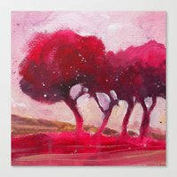 Rose Trees Canvas Print