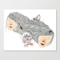 crazy for you (but not that crazy) Canvas Print