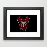 Bat-Spiderman Framed Art Print