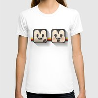 sweethearts, mickey and minnie Womens Fitted Tee White SMALL