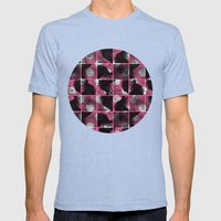 scribble (pink) Mens Fitted Tee Tri-Blue SMALL