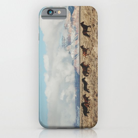 Running Reservation Horses iPhone & iPod Case