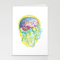 Anatomy Skull Stationery Cards