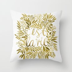 That's Life – Gold On … Throw Pillow
