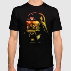 STAR WARS Darth Vader on black SMALL Black Mens Fitted Tee