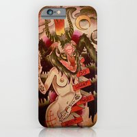iPhone & iPod Case featuring Baphomet....With Tits by kate collins