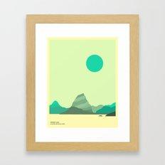 GLACIER NATIONAL PARK, HIDDEN LAKE  Framed Art Print