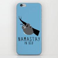 namast'ay in bed sloth iPhone & iPod Skin