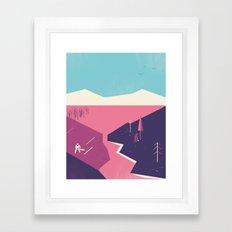 SAW & PLANT Framed Art Print
