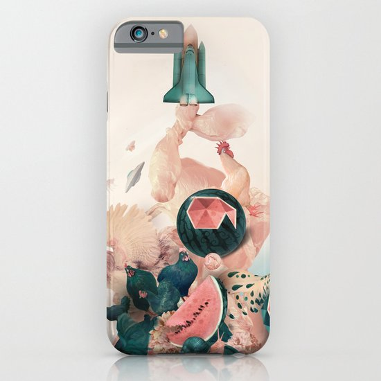 Watermelon&Black cock iPhone & iPod Case