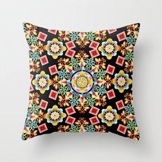 Festival Mandala Throw Pillow