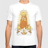 Holy Peach Day of the Dead Tribute Mens Fitted Tee White SMALL