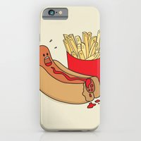 iPhone & iPod Case featuring Fast Food Massacre by Leo Canham