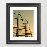 Ship Flags At The Tall S… Framed Art Print