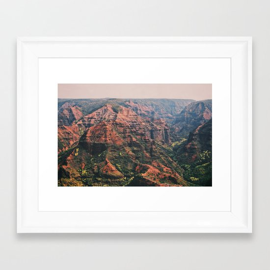 Vintage Hawaii Canyon Framed Art Print
