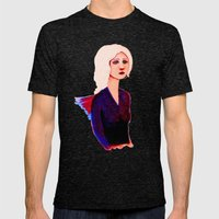 Bird Girl Mens Fitted Tee Tri-Black SMALL