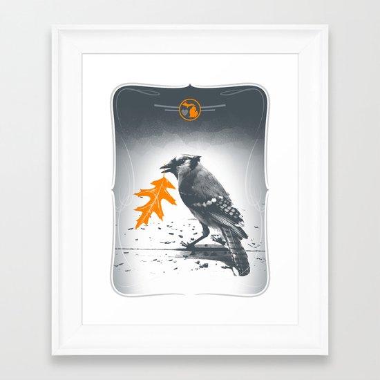 Jaybird Framed Art Print