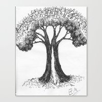 The People Tree Canvas Print