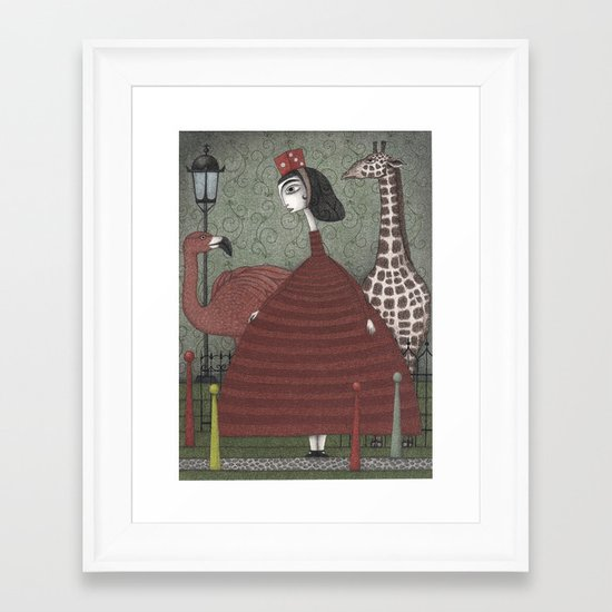 Sunday Excursion to the Zoo Framed Art Print
