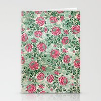 Retro French Floral Pattern Stationery Cards