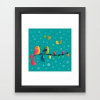 Fly High, My Babies - Me… Framed Art Print