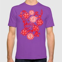 Jane Goes Holiday Mens Fitted Tee Ultraviolet SMALL