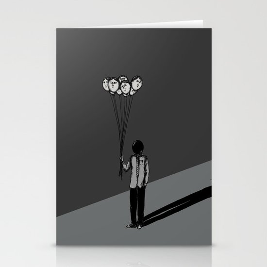 The Black Balloon Stationery Card